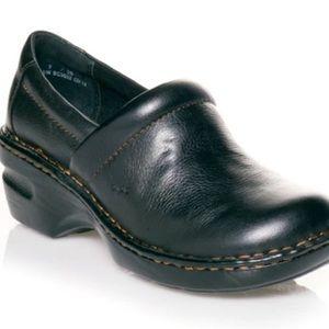 B.O.C Peggy Black Leather Clogs
